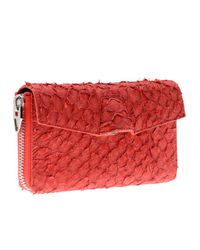 Alexander Wang | Red Quillon Long Compact Perch Wallet in Persimmon | Lyst