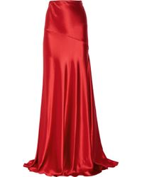Amanda Wakeley | Hammered Silk-satin Maxi Skirt | Lyst