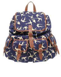 ASOS Collection | Blue Asos Bird Print Rucksack | Lyst