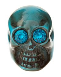 ASOS Collection | Blue Asos Plastic Skull Ring | Lyst