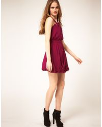 ASOS Collection - Pink Asos Grecian Dress with Bubble Hem - Lyst