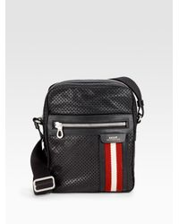 Bally | Brown Perforated Reporters Bag for Men | Lyst