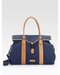 Ben Minkoff | Blue Navy Canvas Bru Weekender Travel Bag for Men | Lyst