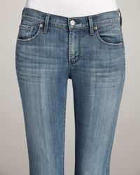 Citizens of Humanity   Blue Thompson True Cropped Skinny Jeans   Lyst