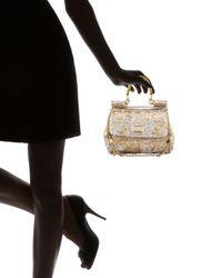 Dolce & Gabbana - Black Miss Sicily Mini Sequined Bag - Lyst
