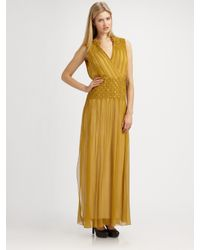 Elie Tahari | Metallic Samantha Dress | Lyst