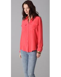 Equipment | Red Signature Blouse | Lyst