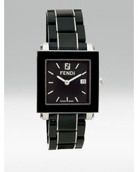 Fendi | Ceramic Square Watch/black | Lyst