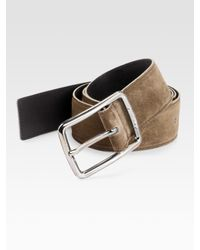 Ferragamo - Brown Fissee Suede Belt for Men - Lyst