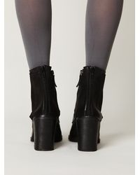 Free People   Black Saffi Lace Boot   Lyst