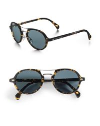 Giorgio Armani | Brown Vintage Round Sunglasses for Men | Lyst