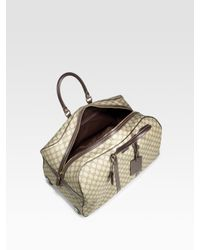 Gucci   Natural Gg-plus Wheeled Duffel for Men   Lyst