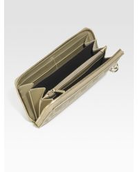 Gucci | Metallic Gg Pierce Zip-around Wallet | Lyst
