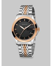 Gucci | Metallic G-timeless Two-tone Stainless Steel Bracelet Watch/38mm | Lyst