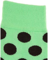 Happy Socks | Green Large Pastel Spot Socks for Men | Lyst