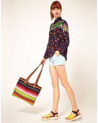 House of Holland - Multicolor Multi Stripe Shopper Bag - Lyst