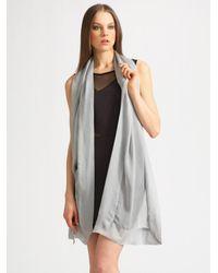 Ilana Wolf | Metallic Silk Chiffon Wrap | Lyst