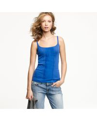 J.Crew | Blue Perfect-fit Ribboned Tank | Lyst