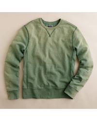 J.Crew | Green Sun-washed Fleece Sweatshirt for Men | Lyst