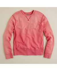 J.Crew | Red Sun-washed Fleece Sweatshirt for Men | Lyst