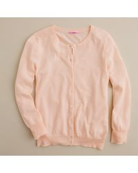 J.Crew | Pink Featherweight Cashmere Cardigan | Lyst