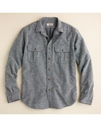 J.Crew | Metallic Wallace & Barnes Donegal Wool Jasper Shirt for Men | Lyst
