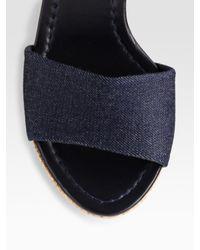 kate spade new york - Blue Wedge Sandals - Lyst