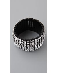 Kenneth Jay Lane - 8 Row Black Crystal Bracelet - Lyst