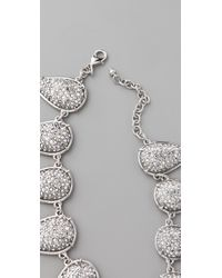 Made Her Think - Metallic Smashed Talons Pave Necklace - Lyst