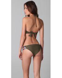 Mara Hoffman - Green Embroidered Bustier Bikini - Lyst