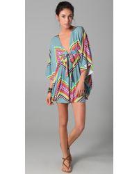 Mara Hoffman | Blue Short Poncho Dress | Lyst