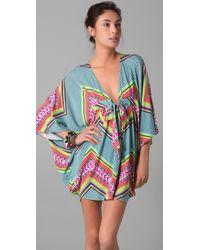 Mara Hoffman - Blue Short Poncho Dress - Lyst