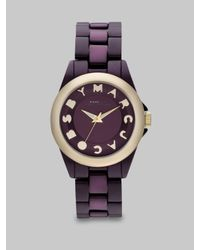 Marc By Marc Jacobs - Logo Embellished Watch/Purple - Lyst