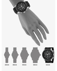 Michael Kors - Oversized Stainless Steel & Black Rubber Chronograph Watch - Lyst