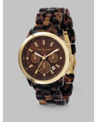 Michael Kors | Brown Tortoise Chronograph Watch | Lyst