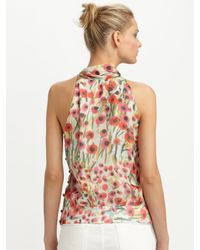 MILLY - Multicolor Louisa Halter Top in Poppy Field Print - Lyst