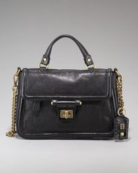 Olivia Harris | Black Toggle-clasp Satchel | Lyst