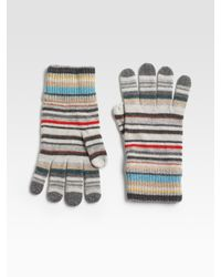 Paul Smith - Multicolor Striped Gloves for Men - Lyst