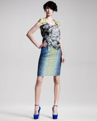 Peter Pilotto | Blue Pattern Skirt | Lyst
