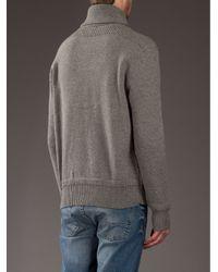 Polo Ralph Lauren - Gray Shawl Collar Sweater for Men - Lyst