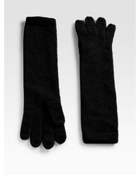 Portolano | Black Long Cashmere Gloves | Lyst