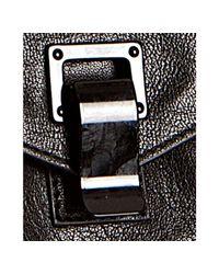Proenza Schouler - Black Leather Ps1 Medium Convertible Satchel - Lyst
