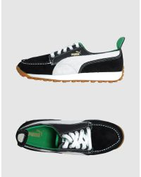PUMA | Black Paneled Low-Top Sneakers for Men | Lyst