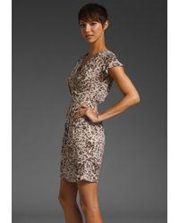Rebecca Taylor | Natural Ocelot Animal Print Wrap Dress | Lyst