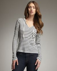 Splendid | White Venice Striped Hoodie | Lyst