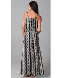 T-bags - Gray Zigzag Maxi Dress - Lyst