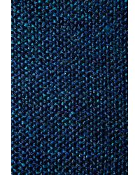 TOPSHOP - Blue Knitted Boxy Lurex Jumper - Lyst