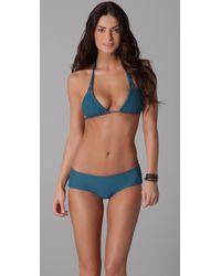 Tori Praver Swimwear | Blue Daisy Bikini Top | Lyst