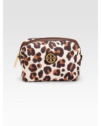 Tory Burch | Natural Brigitte Cosmetic Case | Lyst