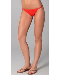 Tory Burch | Red Monogram Bikini Bottoms | Lyst